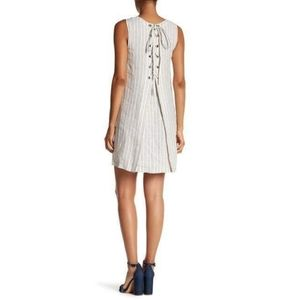 Theory / Keshelle Narrow Stripe Linen Dress